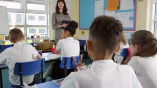 Teacher With Digital Tablet Teaching Class Shot On R3D