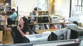 Time Lapse Sequence Of Busy Architects Office