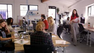 Time Lapse Sequence Of Busy Design Office Shot On R3D