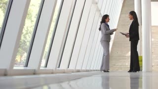 Two Businesswomen At Informal Meeting In Office