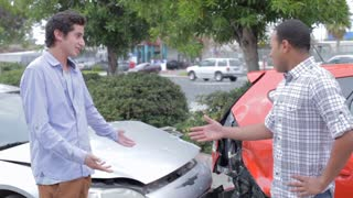 Two Drivers Arguing After Traffic Accident