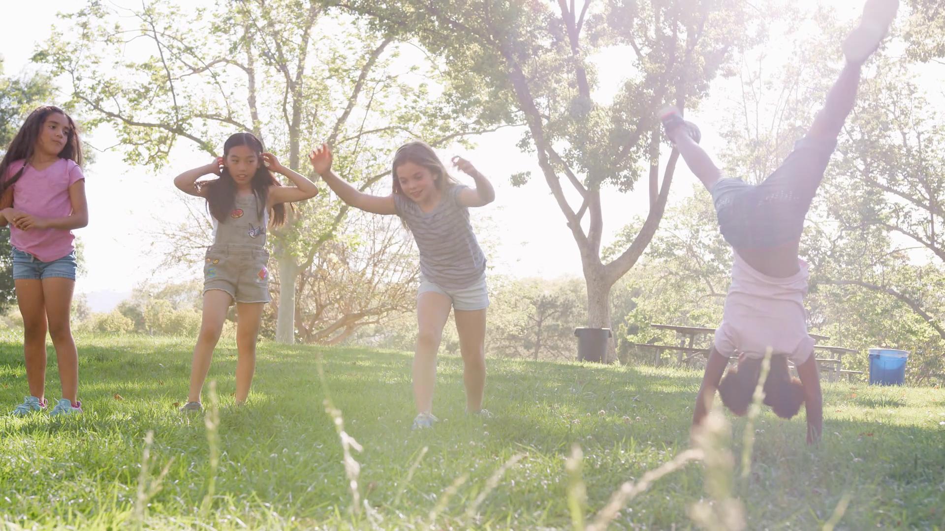 Modern Beautiful Teenage Girl Dancer Stock Footage Photo