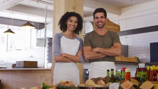 Portrait Of Couple Running Organic Delicatessen Together