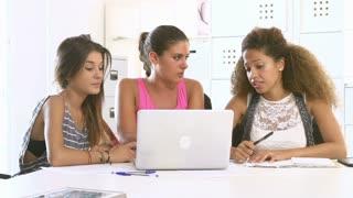 Women Using Laptop In Modern Office Of Start Up Business