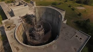 Abandoned Nuclear Power Plant Reactor With Vultures 001