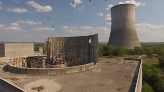 Abandoned Nuclear Power Plant Reactor With Vultures 007