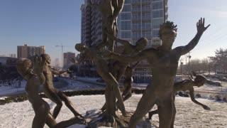 Aerial Snow Public Sculpture Musica 010 Part 1 Ccw Orbit Close