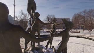 Aerial Snow Public Sculpture Musica 010 Part 3 Ccw Orbit Close