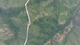 Birds Eye View Over Great Wall Of China 001