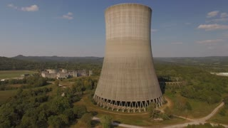Orbiting Abandoned Nuclear Power Plant Cooling Tower 002