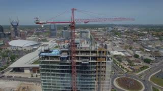 Orbiting Tower Crane With Nashville Skyline 001