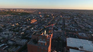 Panorama Of Downtown Baltimore At Sunrise