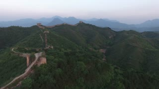 Rising High Above Great Wall Of China 002
