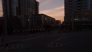 Rising Past Downtown Nashville Condos At Dawn