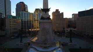 Rising Past Indianapolis Monument At Sunrise