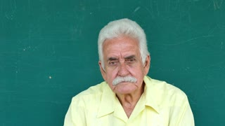 1 Hispanic Elderly People Portrait Sad Senior Man Face Expression