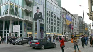 11 Berlin German City Germany Europe Checkpoint Charlie Tourists People
