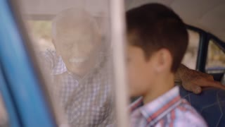 11-Old Man Grandpa Gives Driving Class To Grandson