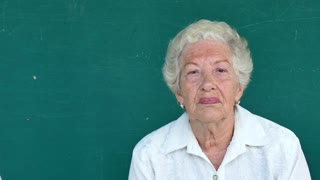 12 Hispanic Elderly People Portrait Sad Senior Woman Face Expression