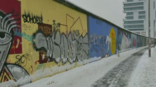 14 Berlin Wall Germany In Winter Snow East Side Gallery