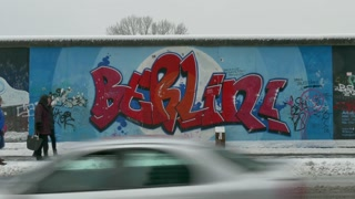 15 Berlin Wall Germany People Tourists Snow East Side Gallery