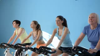 16of27 People training in fitness club, gym and sport activity
