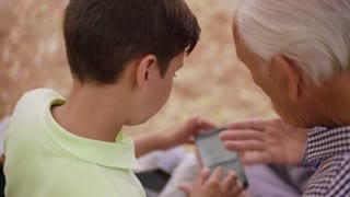 18-Boy Helps Senior Man Grandfather Using Mobile Phone