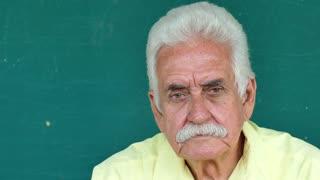 2 Hispanic Elderly People Portrait Worried Senior Man Face Expression