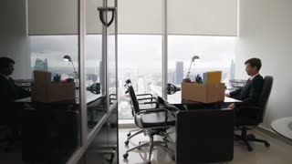 3 Just Hired Executive Business Man Moves To New Office