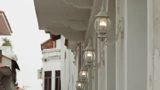 3 Lights And Old Street Lamps In Casco Antiguo Panama