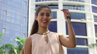 4 Portrait Of New House Owner Holding Apartment Keys