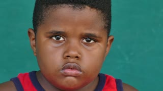 44 Black Children Portrait Sad Child Face Expression
