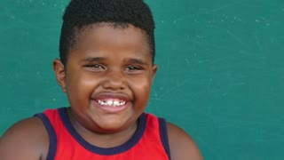 46 Black Children Portrait Happy Young Boy Laughing At Camera