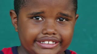 47 Black Children Portrait Nervous Young Boy Looking At Camera