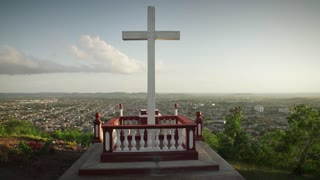 5 Wooden Cross On Holguin Hill In Cuba