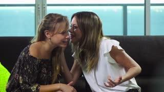 6 Women Talking Gossip And Whispering Secrets