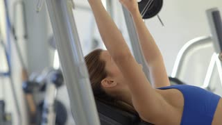 7of27 People training in fitness club, gym and sport activity