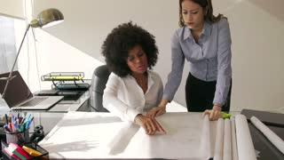 9 Female Architect Colleague Shows Building Plan To Manager