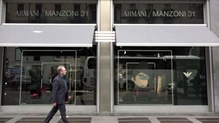 Armani Shop Store Italian Fashion Shopping Milan Milano Italy Italia