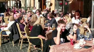 Bar Cafeteria Restaurant People Crowd Tourists Tourism Rome Italy Italia