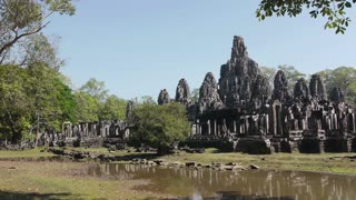 Bayon, famous buddhist temple and world famous monument in Angkor Thom, Cambodia, Asia. Sequence