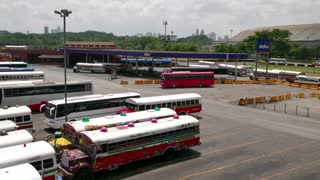 Bus Terminal For Travelers With Gas Station In Panama City
