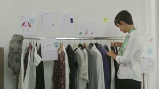 Business Clothing Industry Manager Woman Businesswoman Designer Preparing Fashion Show