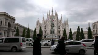 Cathedral Monument In Milan Milano Italy Italia Piazza Duomo Square