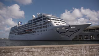 Cruise Ship For Tourism And Travel In Havana Port Cuba