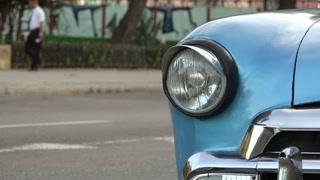 Cuba La Habana Havana Closeup Of Vintage Car Hood 4K