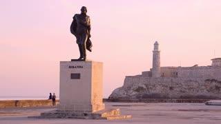 Cuba, La Habana, Havana, lighthouse, people, sunset