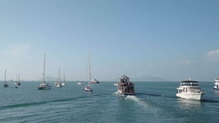 Ferry Boat Sailing From Panama City To Isla Taboga