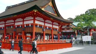 Fushimi Inari Shrine or Fushimi Inari Taisha, a Shinto shrine in southern Kyoto, Japan, Asia. Japanese monument, Asian landmark, religious building, religion and temple