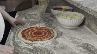 Healthy Food Preparation Pizza Making Restaurant Kitchen Mediterranean Diet Italy